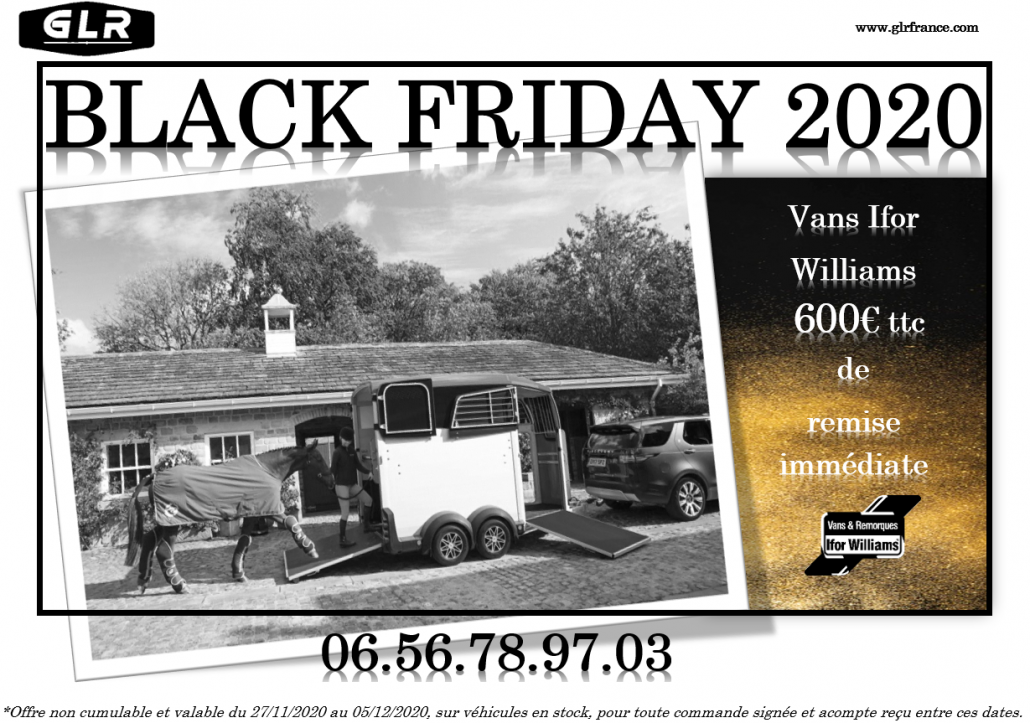 BLACK FRIDAY 2020 : VANS Ifor Williams et Cheval Liberté