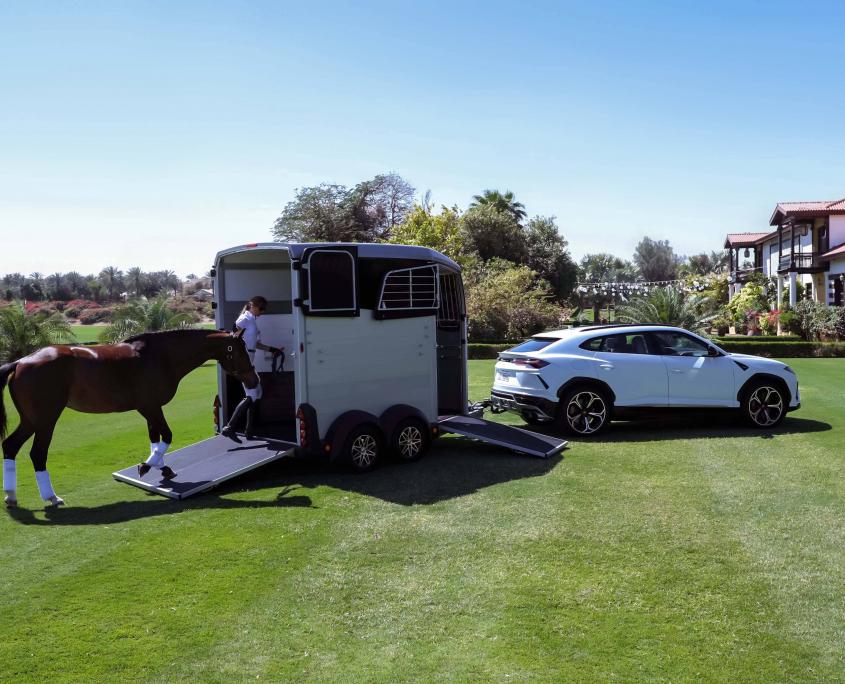 Horsebox_HBX_HBX506_Silver_alloy wheels_right hand front ramp_Lamborghini-9_outdoor location
